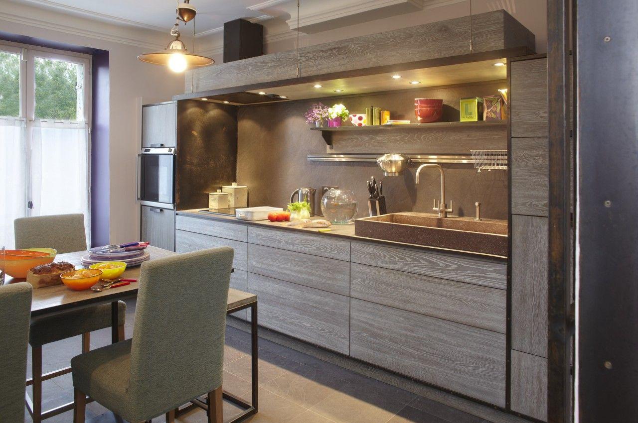 cuisine style loft atelier. Black Bedroom Furniture Sets. Home Design Ideas