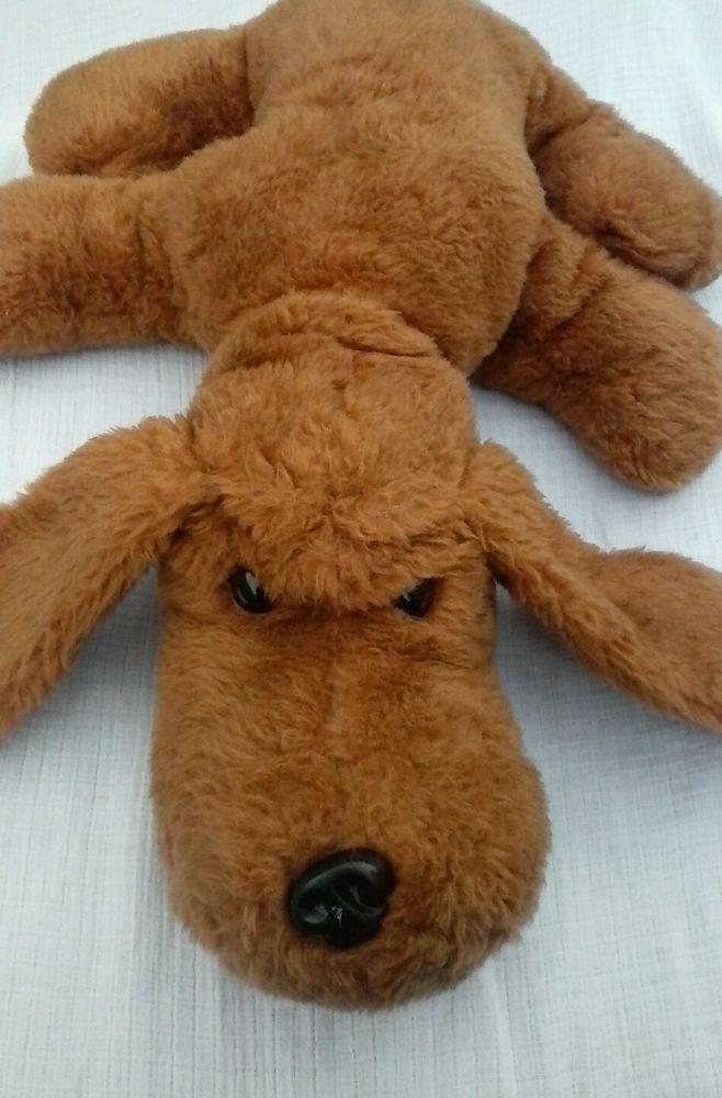 Vintage Plush Dog Brown Hush Puppy Stuffed Toy Animal Handmade 20