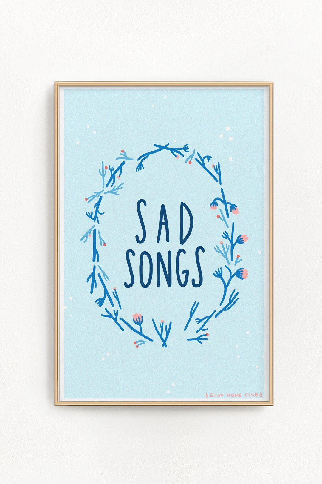 Artwork By Olivia Mew 11 X 17 Risograph Print Printed On White 67lb Cover Weight Paper Ships Flat In A Rigid Cardboa Riso Print Risograph Print Saddest Songs