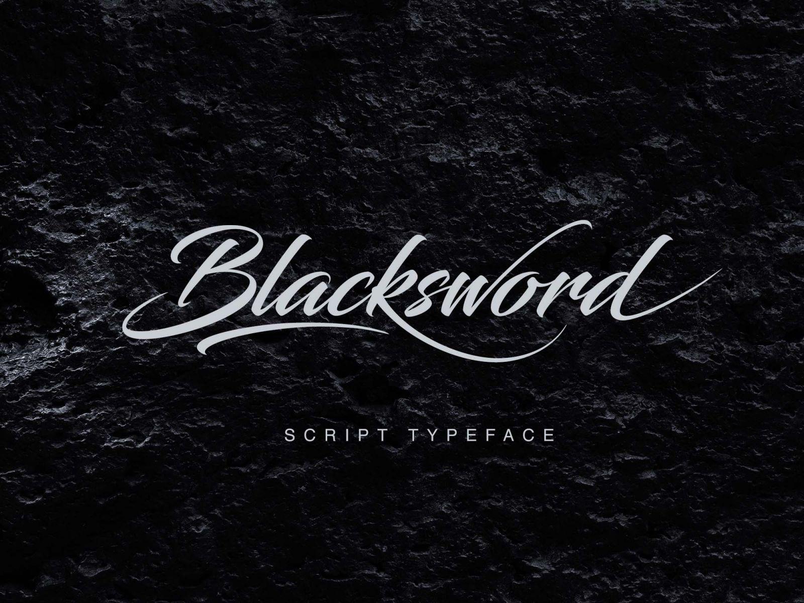 Blacksword Free Script Font Free script fonts, Script