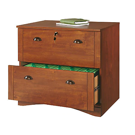 Realspace Dawson 30 W Lateral 2 Drawer File Cabinet Brushed