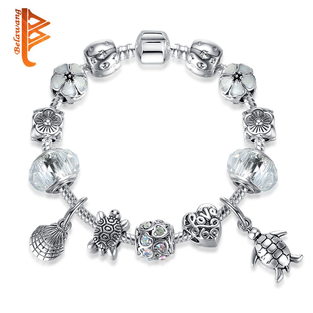 Lovely turtle animal collection charms bracelet for women girls