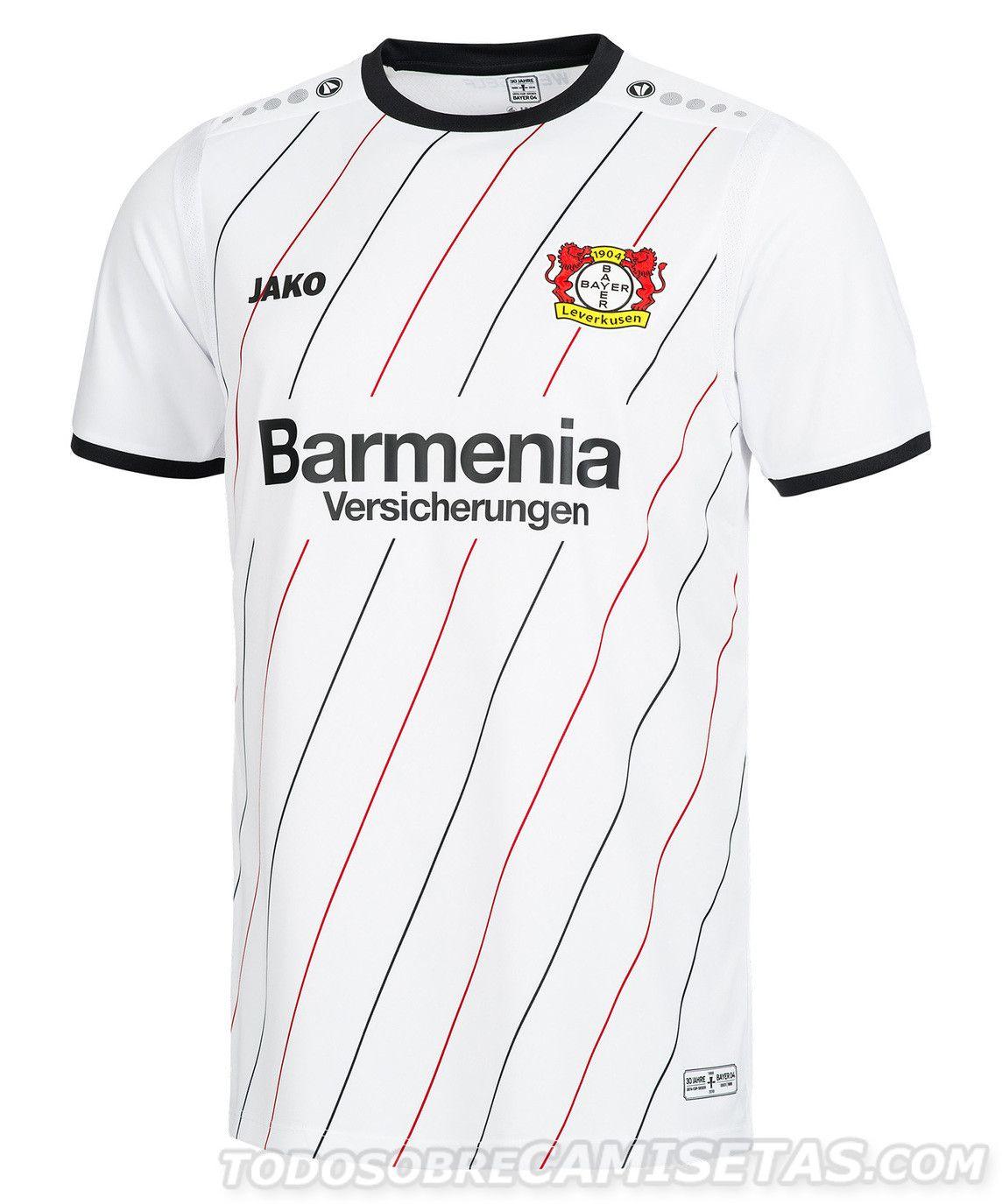 Bayer Leverkusen 2018 Jako UEFA Cup Winners 30th Anniversary Kit ... 9c50c220a005a