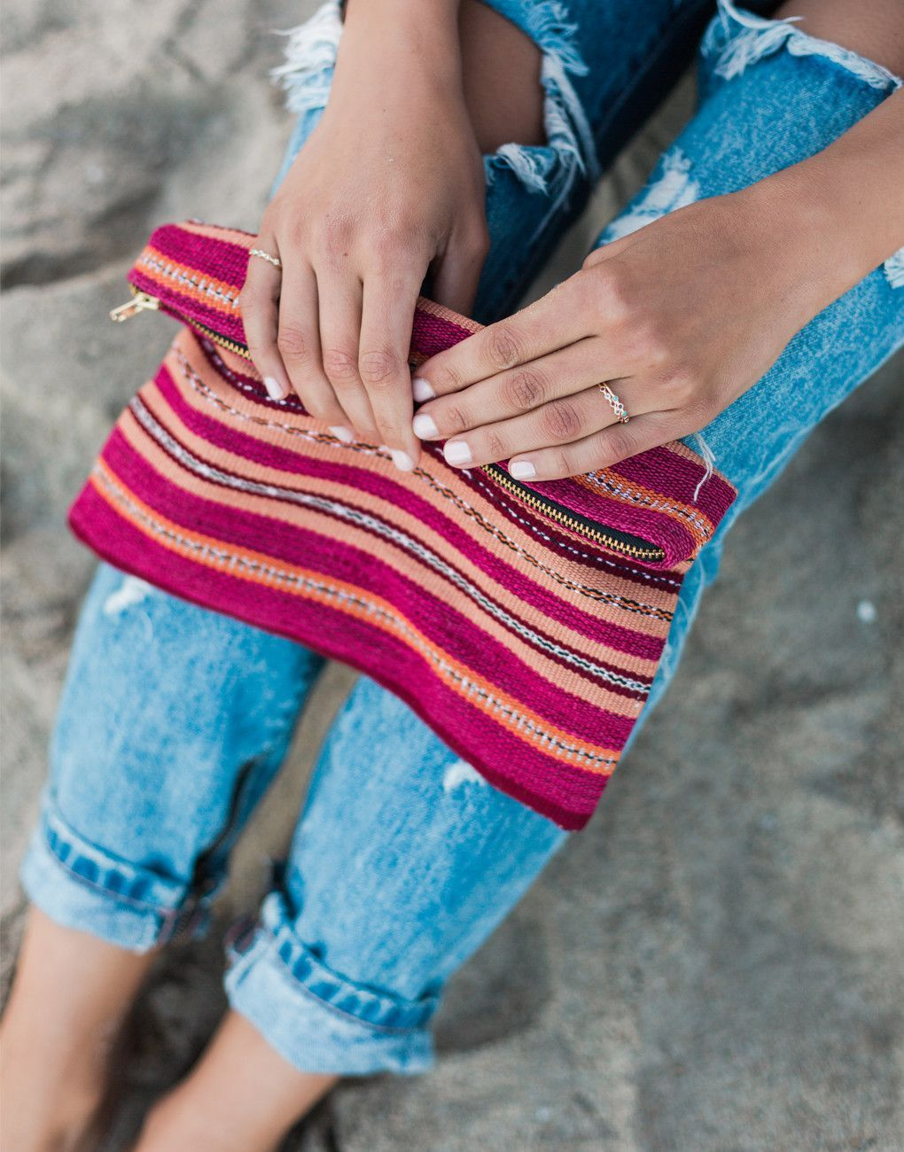We love this striped travel bag! {The Little Market}