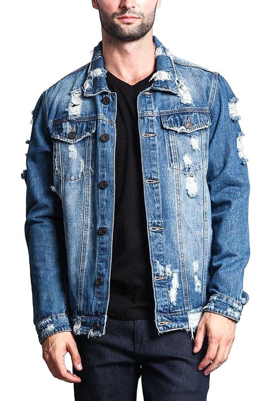 Men S Clothing Jackets Coats Lightweight Jackets Distressed Denim Jacket Distressed Indigo Ci18 Denim Jacket Mens Fashion Edgy Jean Jacket Outfits Men [ 1500 x 1000 Pixel ]