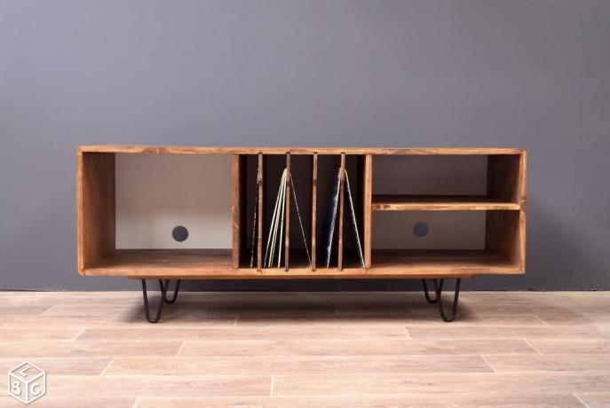 Meuble Vintage Vinyles Pinhead LANTIGONE - Inspiration pour meuble