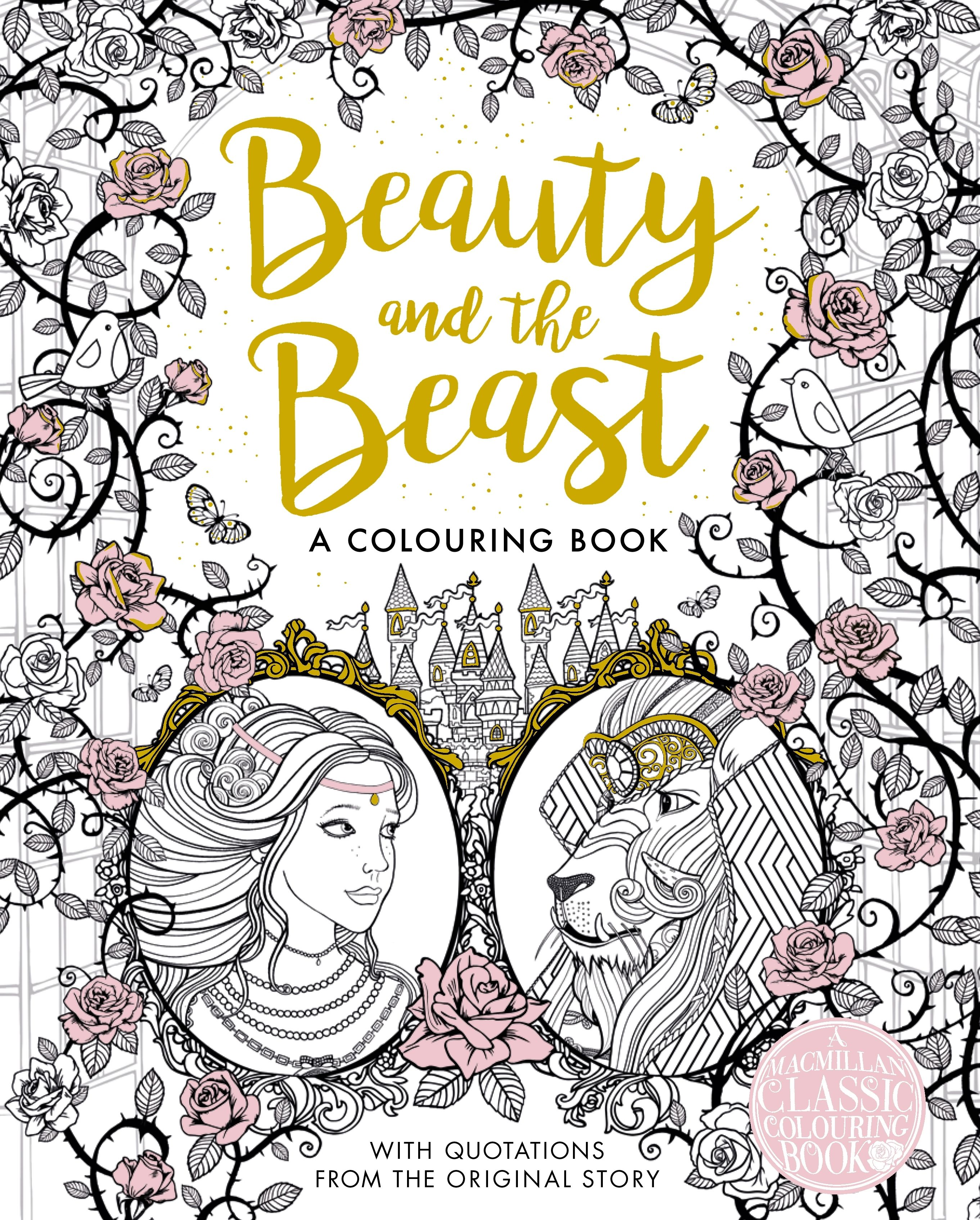 The Beauty and the Beast Colouring Book | COLOURING BOOKS | Pinterest