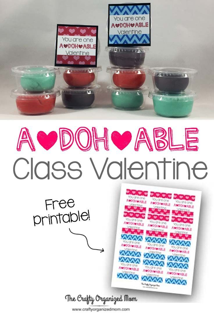 These class Valentines are so much fun! They are really simple and do not take a lot of effort but turn out looking awesome. Grab your FREE printable on the website! Valentines | Free Printable | Class Valentines | Play Dough | Crafts | DIY | Ideas | Treats | School