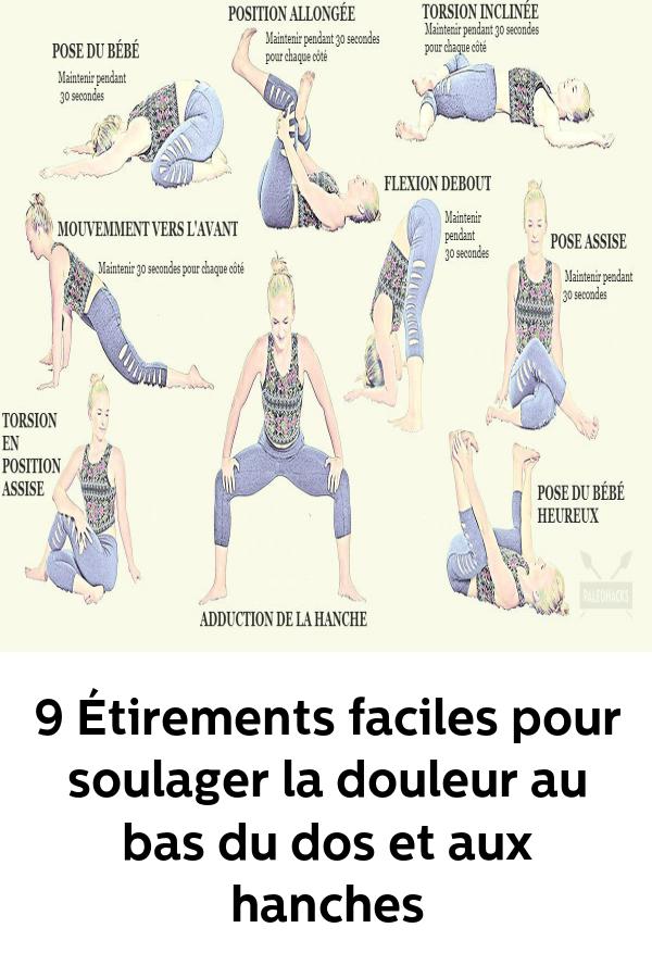 Mal De Dos 21 Exercices Simples Et Rapidement Efficaces Soulager La Douleur Au Bas Du Dos Et A La Hanche