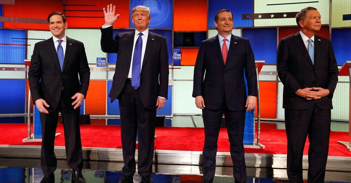 Donald Trump promises he's got a big enough dick to be president -      It didn't take long for the Thursday's GOP debate to go below the belt.   After Marco Rubio promised to end his gutter attacks on Donald Trump, t...