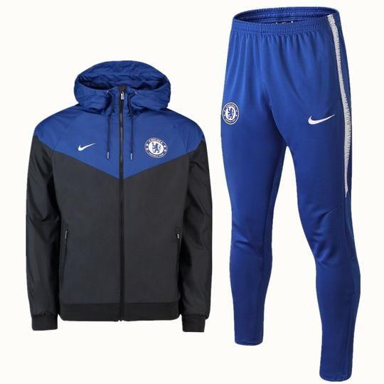 af4a4f8deef Chelsea F.C. Nike FOOTBALL CLUB 2018 - 19 TRAINING Blue TOP Black TRACKSUIT  FÚTBOL CALCIO SOCCER CLUB FUSSBALL BNWT