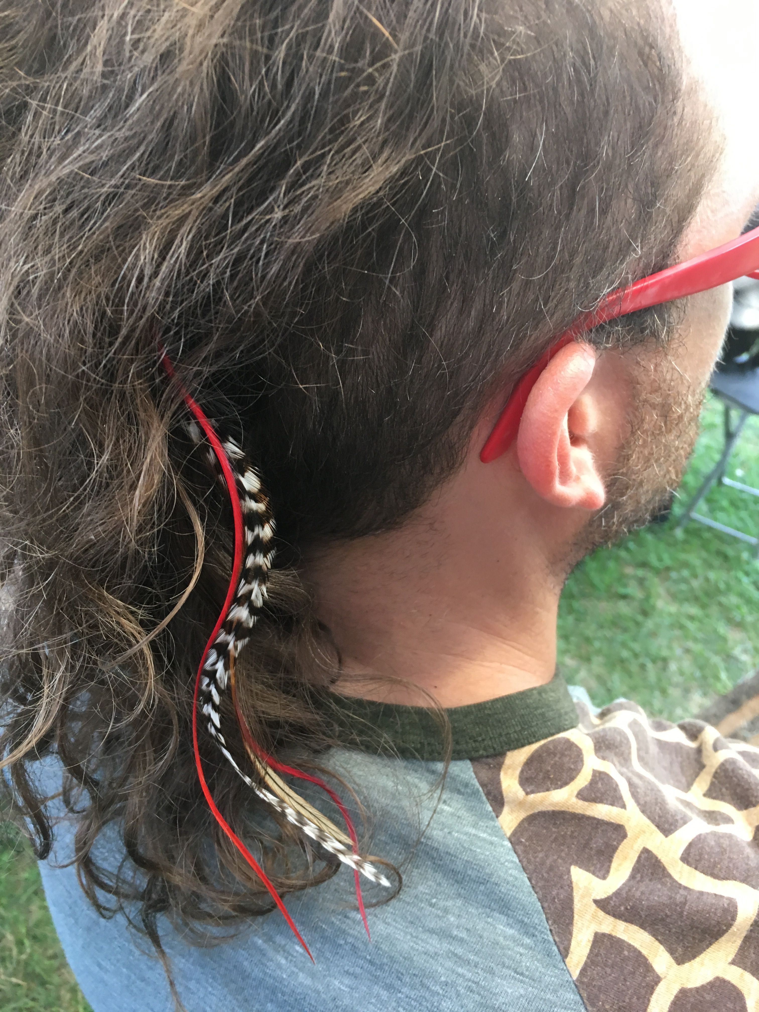 Stupendous Men Feather Extension Bad Hair Feathered Hairstyles Schematic Wiring Diagrams Phreekkolirunnerswayorg