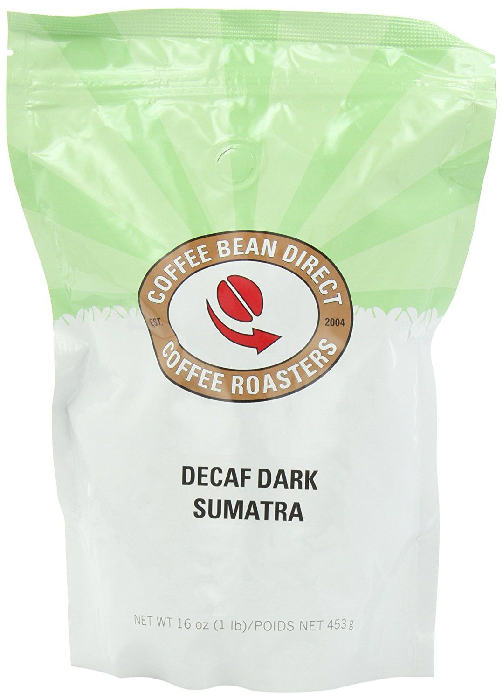 Coffee bean direct decaf dark sumatra whole bean coffee