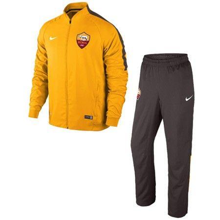 AS Roma Boys Training Suit - Orange/Black 2014 2015 [645969861 ...