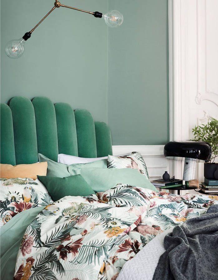 Green in the bedroom
