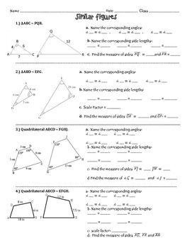 Time Worksheets Grade 1 Similar Figures Practice Worksheet  Worksheets Math And Middle  Worksheet On Adverbs For Grade 4 with Seven Sacraments Worksheet Inthisworksheetasksstudentstoidentifycorresponding Chocolate Fever Worksheets Excel