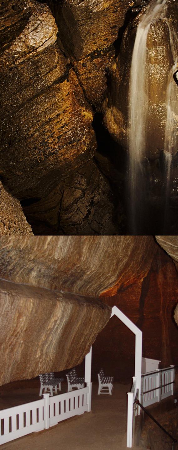 Niagara Cave in Harmony, Minnesota plays host to a 60 foot waterfall ...
