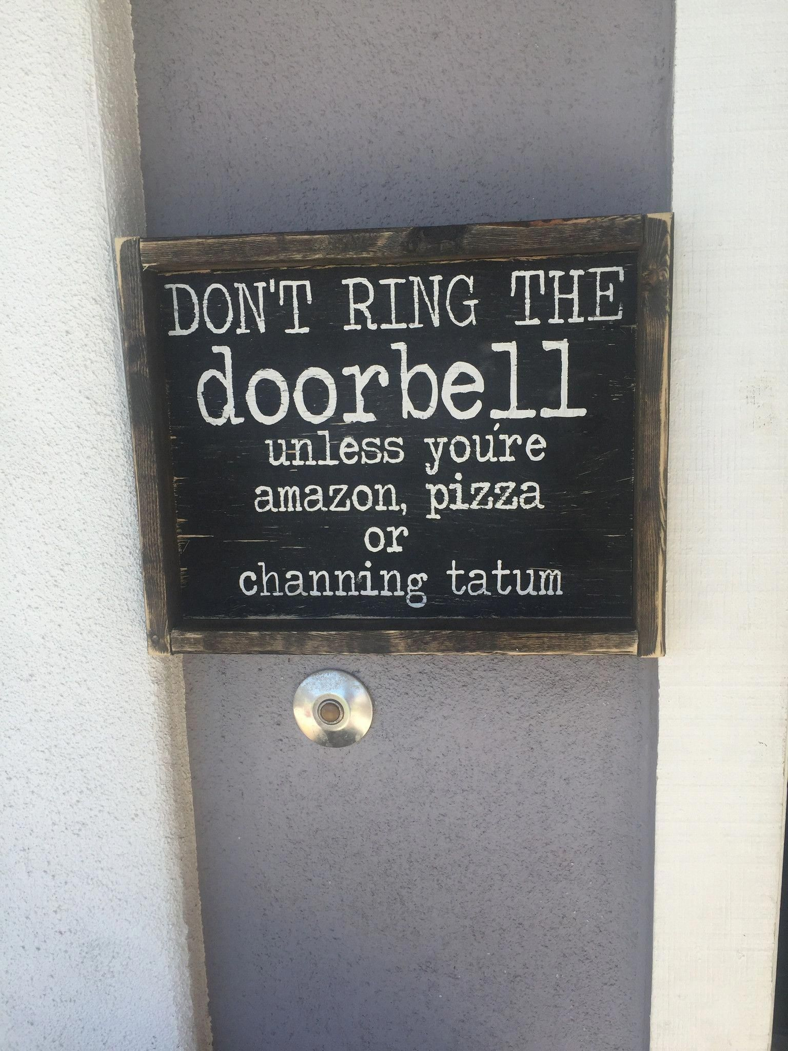 Don't Ring the Doorbell