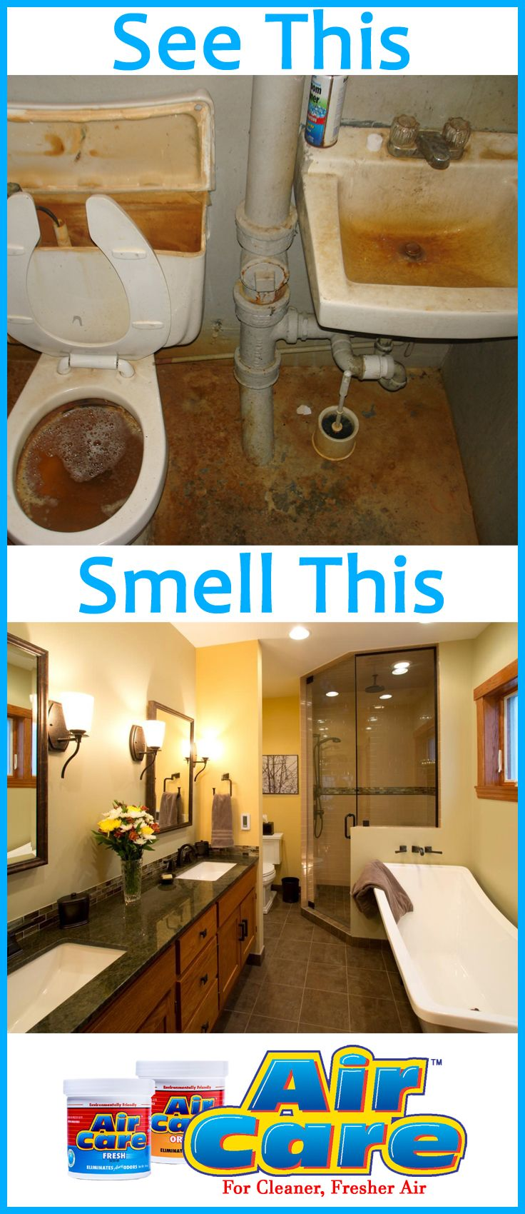 Don't let your bathroom smell like a rest stop! Place an