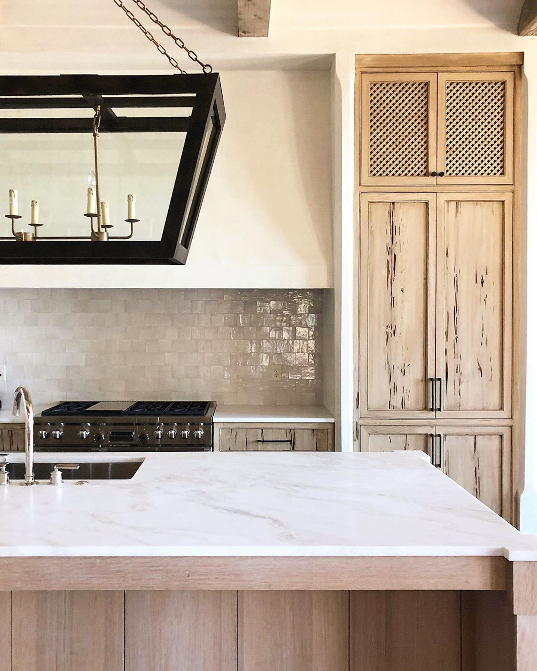 Francis Bryant Construction On Instagram A Recently Completed Kitchen Designed By Defining Home Pecky Cypress Cabi In 2020 Pecky Cypress Kitchen Remodel Wood Beams