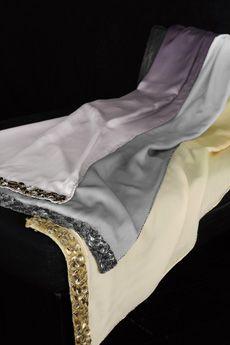 Donna Karan Modern Classics Ombre Silk Bed Scarf / DonnaKaranHome.com