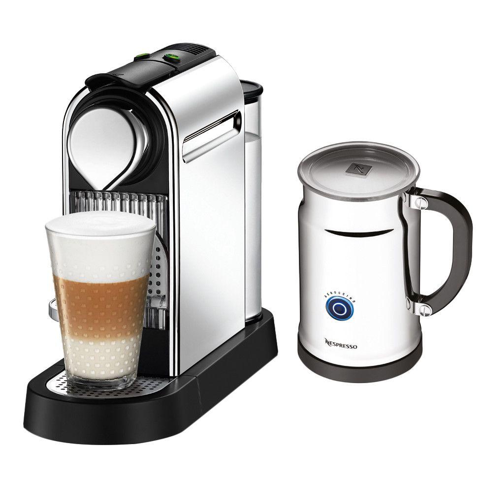 Nespresso citiz espresso maker with aeroccino milk