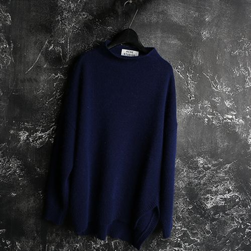 [A.C.N]Angora .cotton MixedTurtle Neck Sweater[WOMAN][PREMIUM PRODUCT]