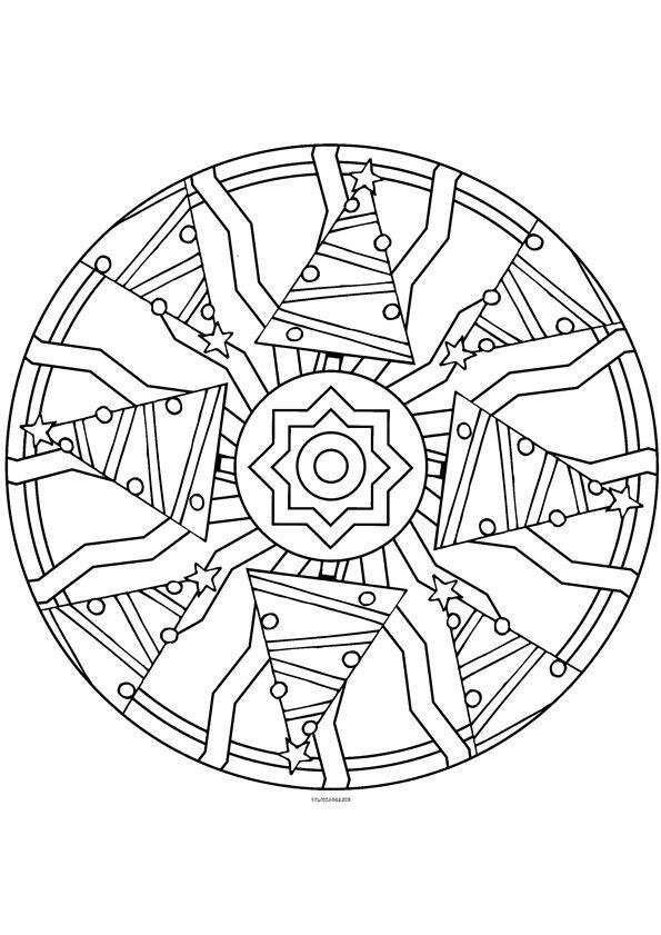 Mandala kleurplaten mandalas navidad natale mandala e tombola di natale for Tombola di natale da stampare