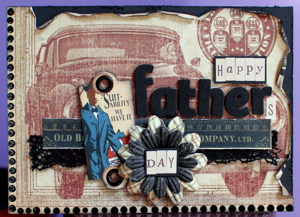 Such a great Father's Day card shared by @Ilene Tell. So many beautiful details! #graphic45 #fathersday #cards