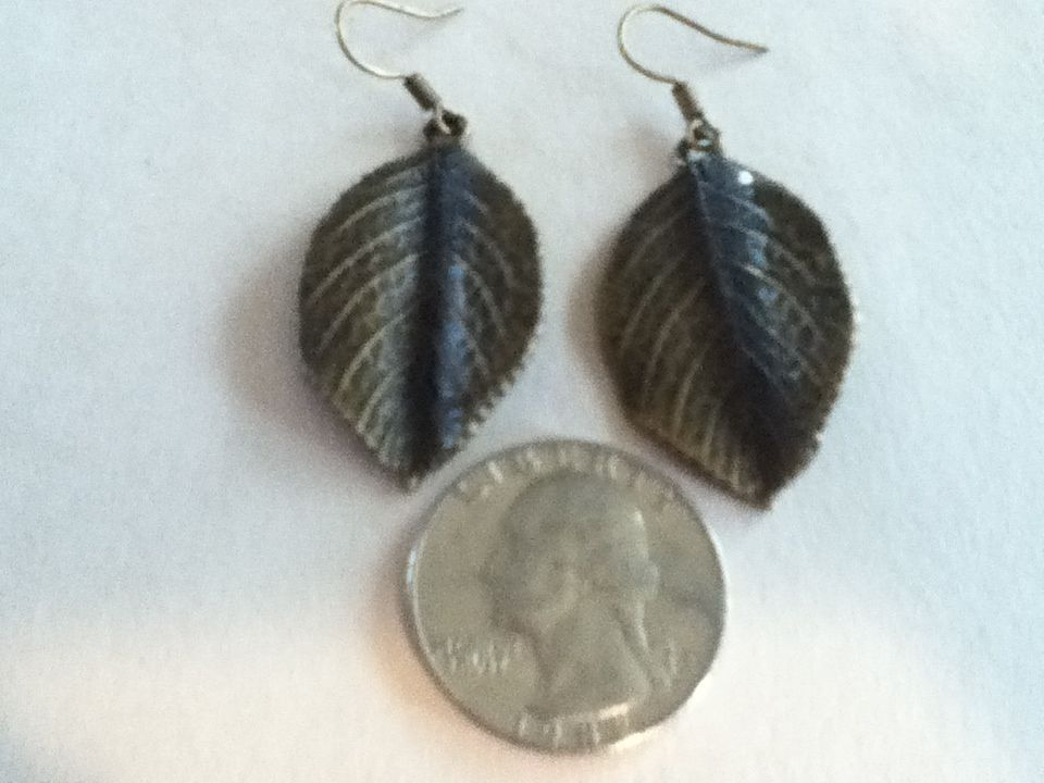 Bronze leaf earrings.$10