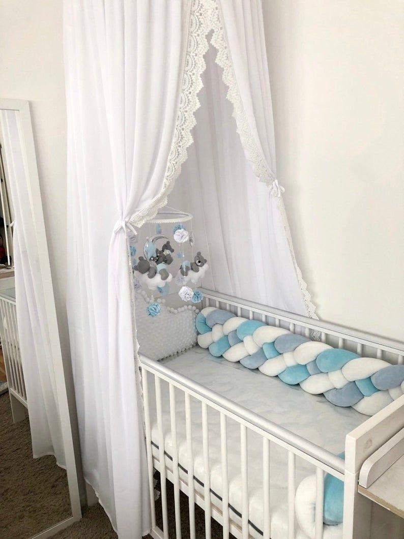 Double Braided Crib Bumper Baby Crib Bumper Linen Bolster