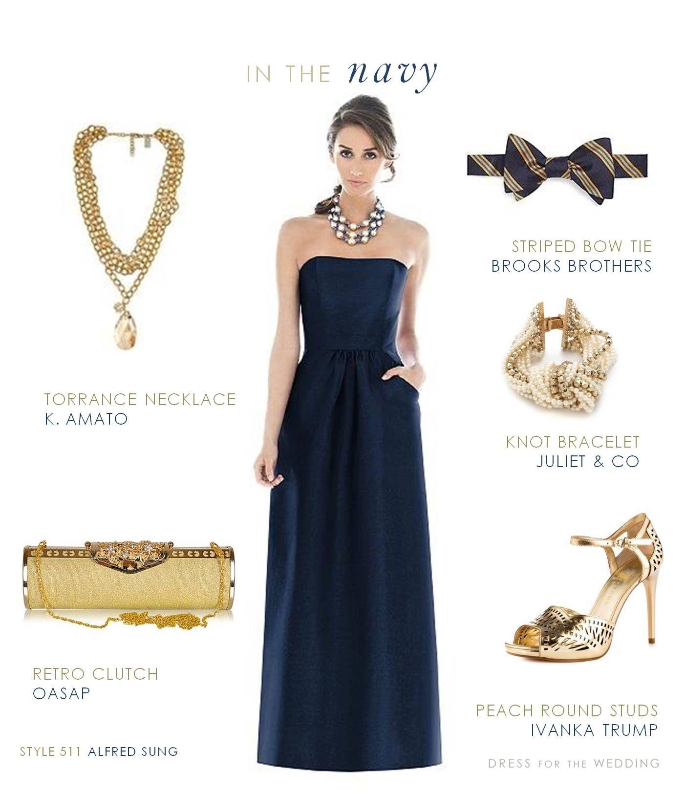 Navy And Gold Fall Bridesmaid Dresses Bridesmaid Dress Styles