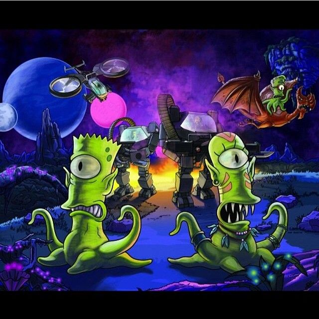 THE SIIMPSONS TV Show PHOTO Print POSTER Series Art Homer Simpson Trippy 005