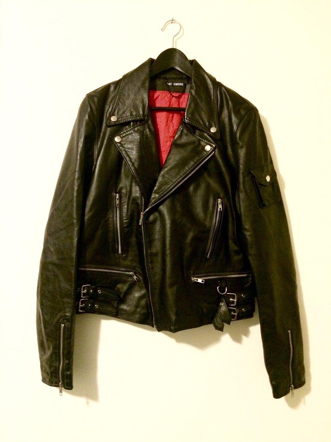 e6358395eb Raf Simons Aw97 Leather Motorcycle Jacket