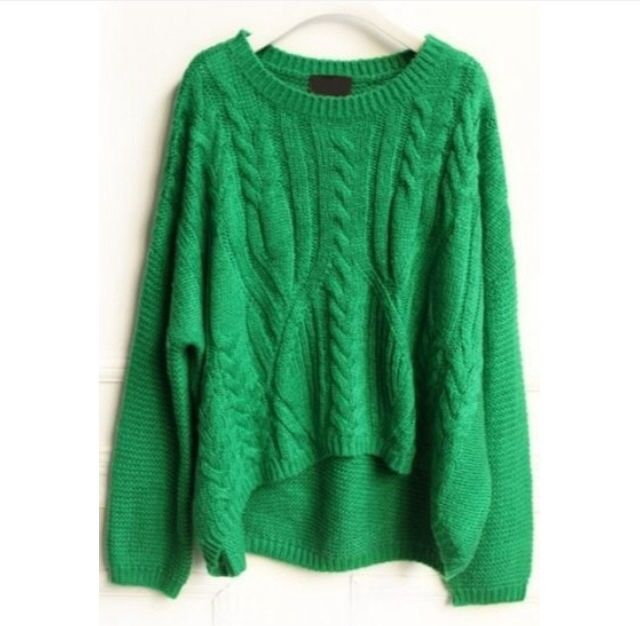 Kelly green sweater | Sweaters, Embroidery sweater, Kelly
