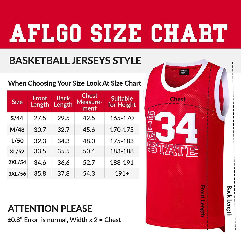 XL L M 2XL Jesus Shuttlesworth Big State #34 Red Basketball Jersey S