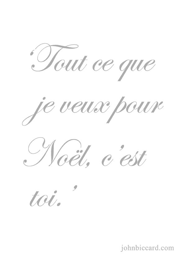 Beautiful French Saying ♔ U0027All I Want For Christmas Is You.u0027