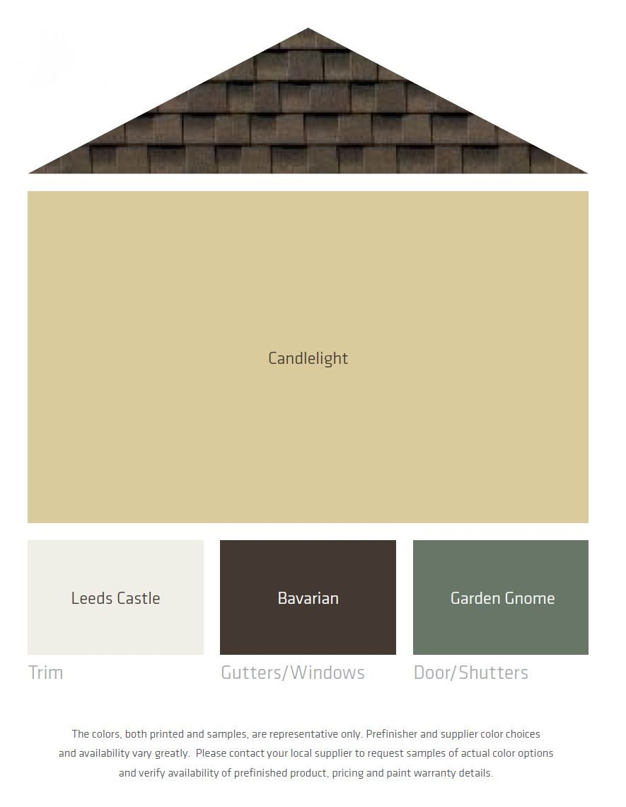 Fresh Color Palettes For A Brown Roof House Exterior