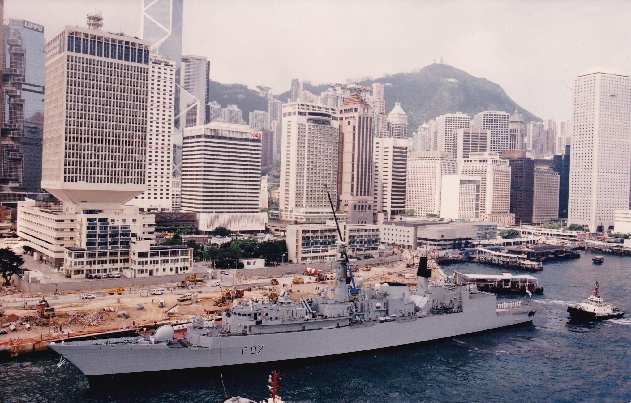 Hms Chatham Royal Navy Batch 3 Type 22 Frigate Docking At Hms Tamar Hong Kong In The 1990s Royal Navy Ships History Of Hong Kong Royal Navy