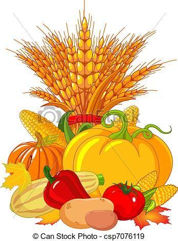 vector thanksgiving harvest design stock illustration royalty