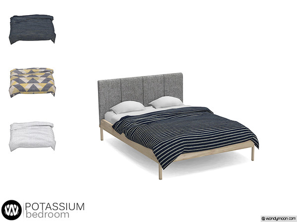 wondymoon's Potassium Bed Blanket in 2020 Sims 4 beds