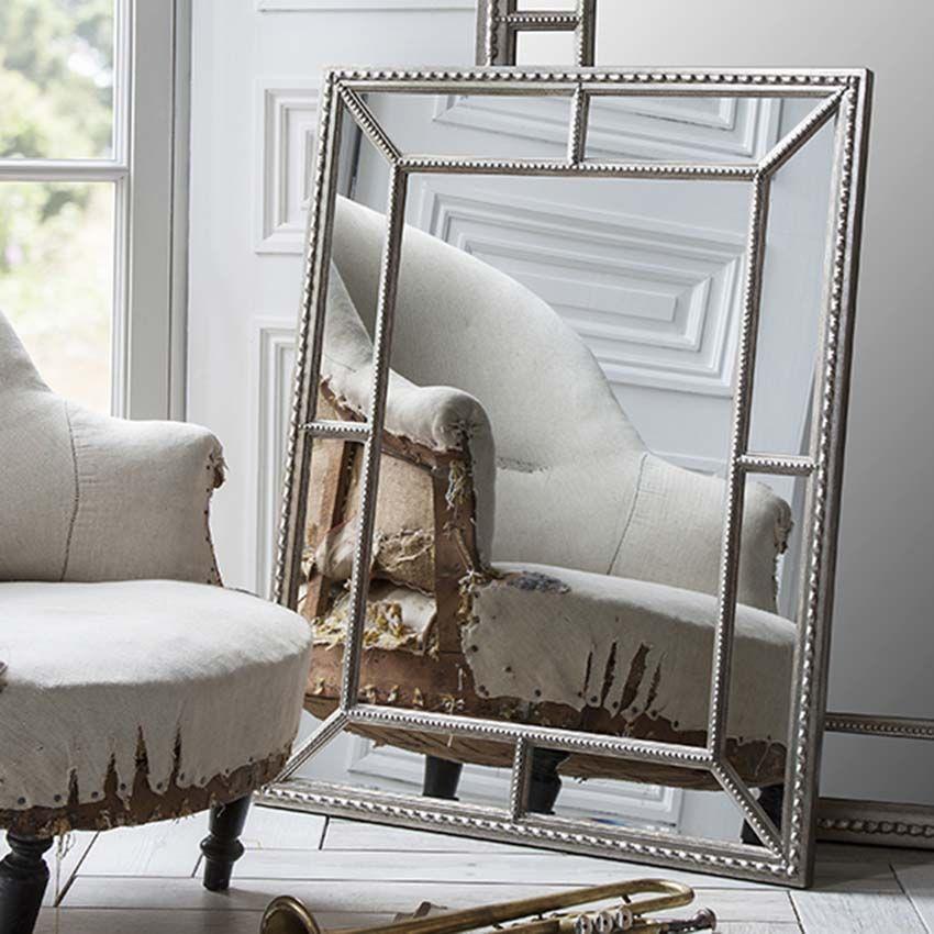 Silver Framed Wall Mirror 100 x 79cm