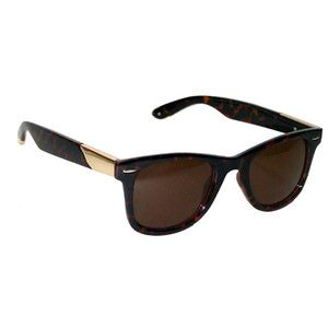 Black//Brown Jeepers Peepers Unisex Round Browline Sunglasses