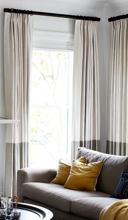 Extending Curtain Length Curtains Living Room Living Room Designs Home