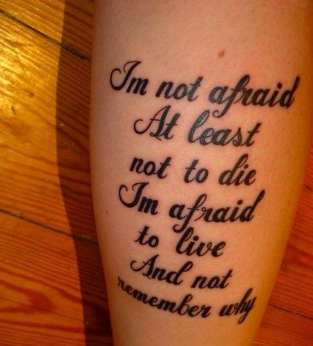 Tattoo Quotes Music: Beautiful Song Lyric Tattoos