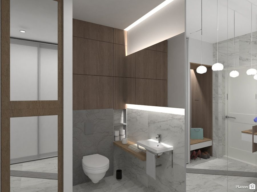 Modern Bathroom Interior White Color And Brown Color Planner 5d Badezimmer Zimmer Baden