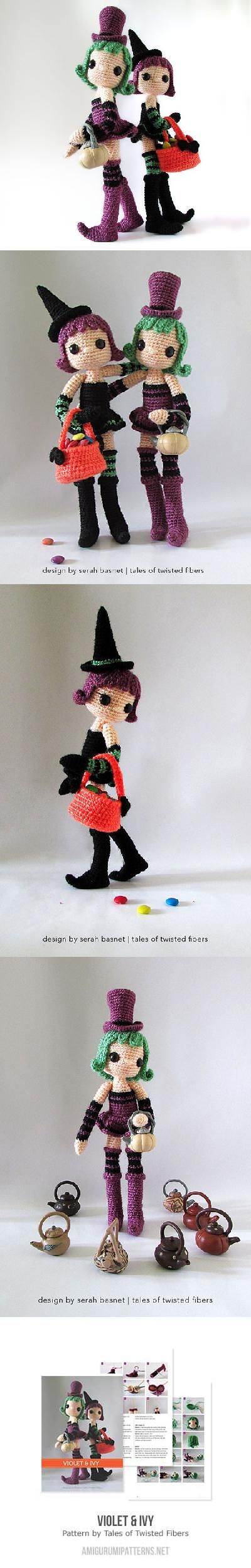 Violet and Ivy amigurumi pattern by Tales of Twisted Fibers ...