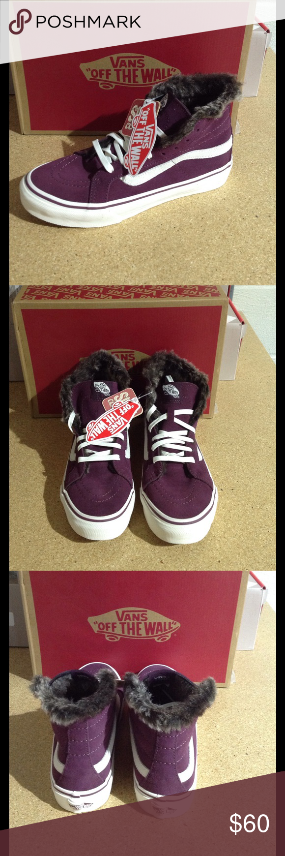 cbc26c44a82ef1 Vans SK8-Hi Slim Sneaker These Vans SK8-Slim are stylish with faux fur  inside and comfortable! (PM-S0227) Vans Shoes Sneakers