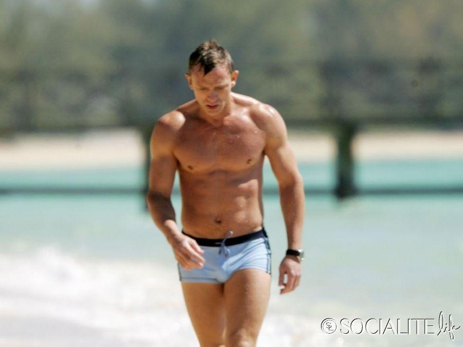 05fadc3acc Daniel Craig Films 'Casino Royale' Wearing Iconic Bathing Suit   My ...