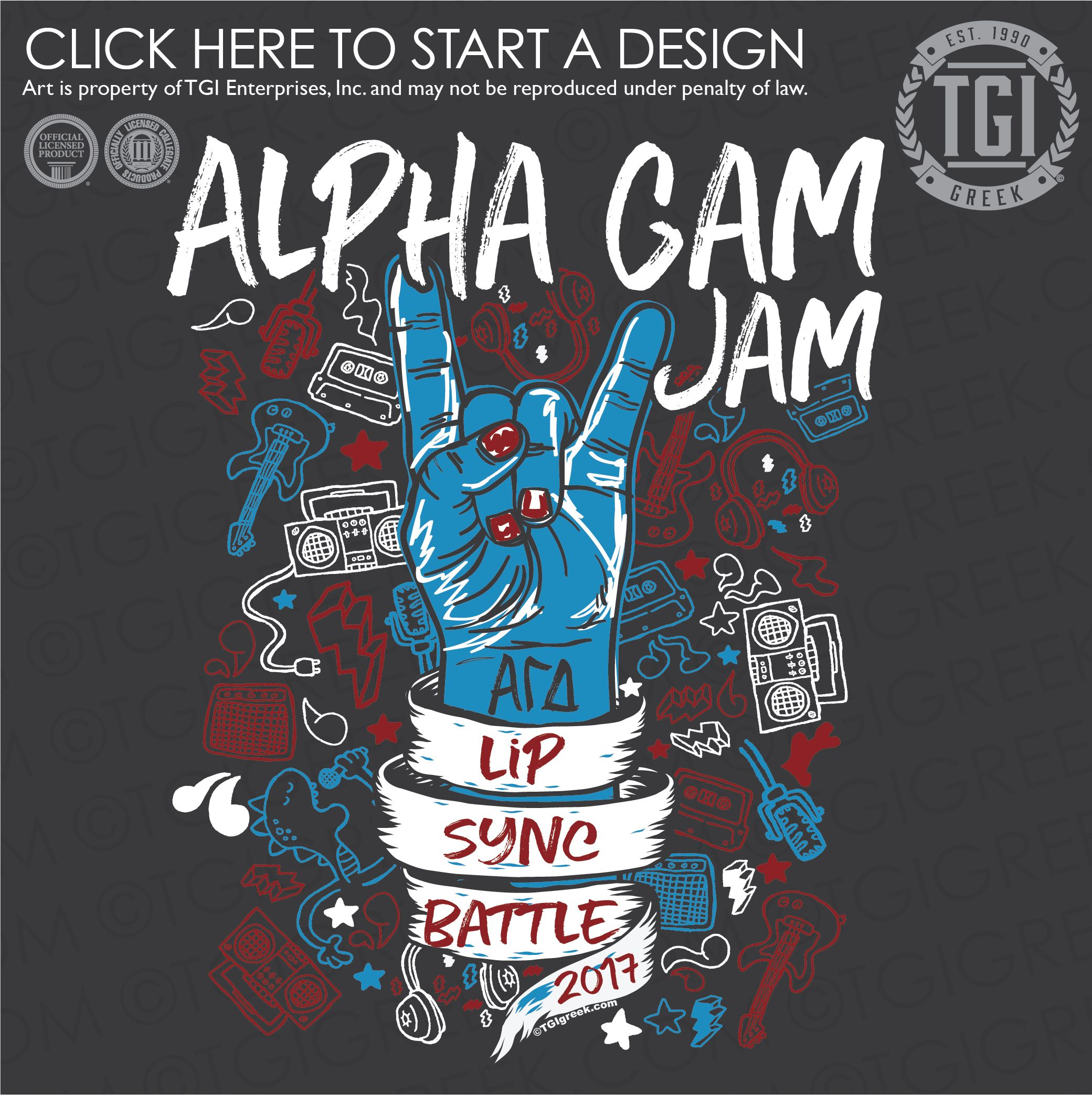 Alpha Gamma Delta αγδ Lip Sync Battle Tgi Greek Greek Apparel Custom Apparel Sorority Tee S Sorority Designs Sorority Crafts Sorority Senior Shirts